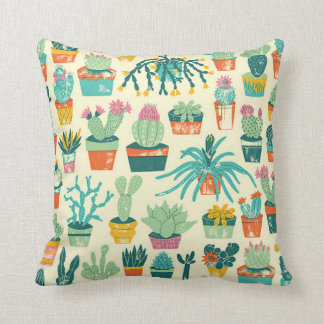Cactus Flower Pattern Pillows