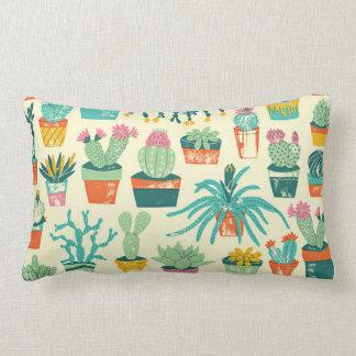Cactus Flower Pattern Throw Pillow Throw Cushion