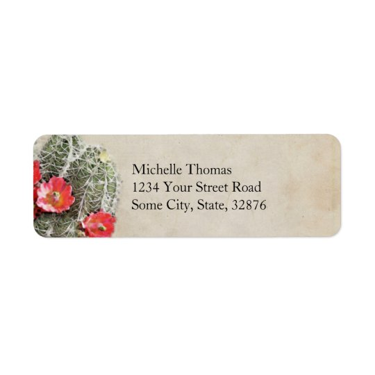 Cactus Flowers Artwork Return Address Label