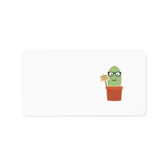 Cactus free hugs label