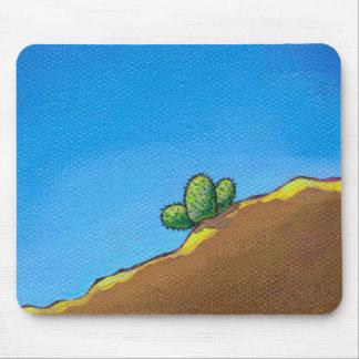 Cactus fun desert landscape art colorful painting mouse pad