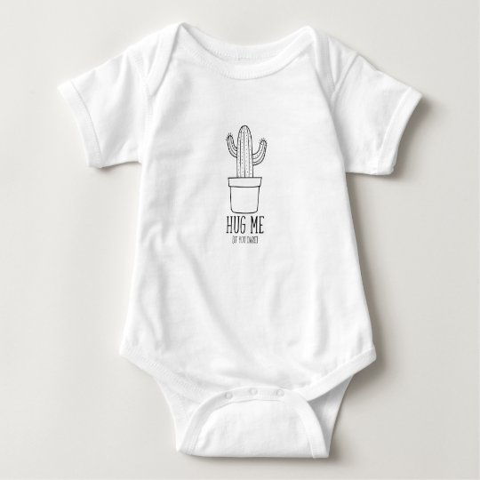 Cactus funny quote baby clothes baby bodysuit