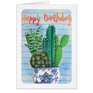 Cactus Happy Birthday | Greeting Card