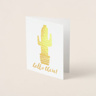 Cactus Hello There! Foil Card