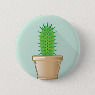 Cactus in a pot 6 cm round badge