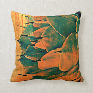 Cactus in Orange Polyester Throw Pillow