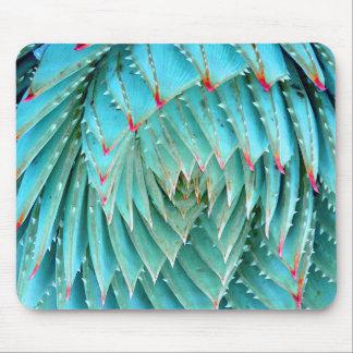 Cactus in Red & Aqua Nature Fine Art Mouse Mat