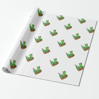 Cactus - joy wrapping paper