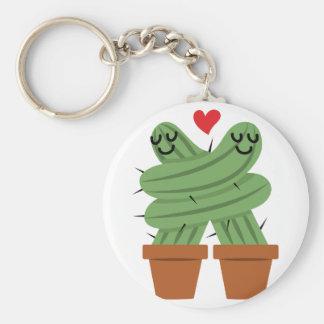 Cactus Love Basic Round Button Key Ring