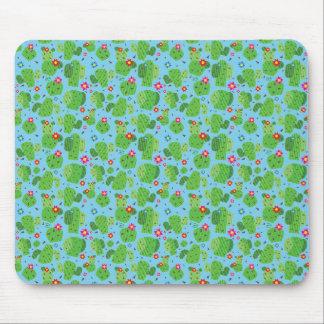 Cactus Me Outside (Blue) - Flat Mousepad