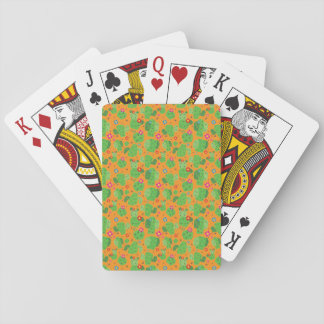 Cactus Me Outside (Orange) - Playing Cards