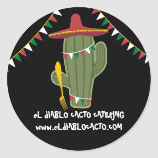 Cactus Mexican Southwestern cuisine catering Round Sticker