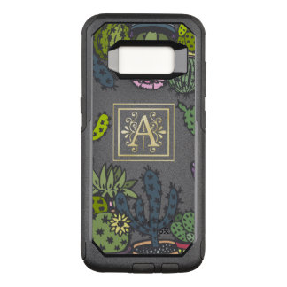 Cactus Monogram A OtterBox Commuter Samsung Galaxy S8 Case