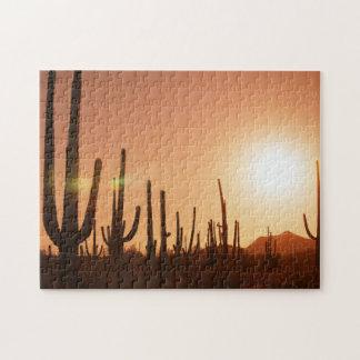 Cactus On Desert Jigsaw Puzzle