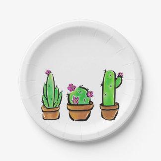 Cactus Paper Plate
