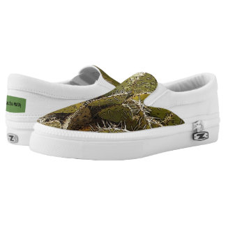Cactus Patch Slip Ons Printed Shoes