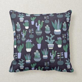 Cactus pattern cushion