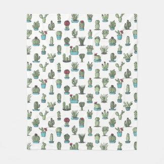 Cactus Pattern Fleece Blanket