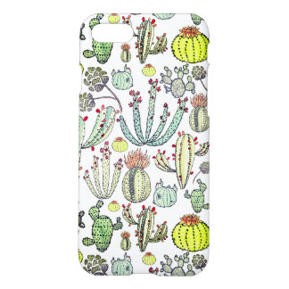 Cactus Pattern Iphone 7 Matte Phone Case