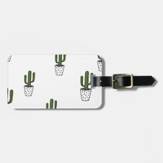 Cactus Pattern Luggage Tag