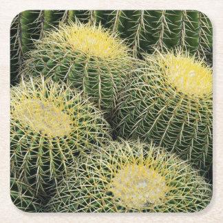 Cactus Pattern Square Paper Coaster