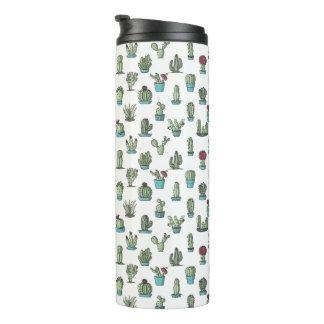 Cactus Pattern Thermal Tumbler