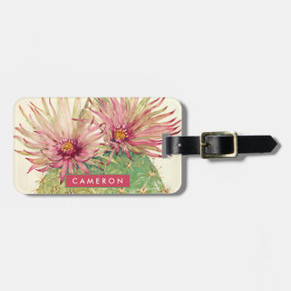 Cactus Pink Blossoms Luggage Tag