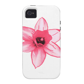 Cactus Pink Flower Template increase decrease size iPhone 4/4S Case