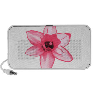 Cactus Pink Flower Template increase decrease size iPod Speaker