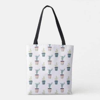Cactus Plant Pattern Tote Bag