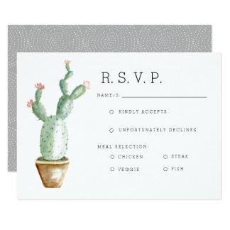 Cactus Planter | Watercolor RSVP Card