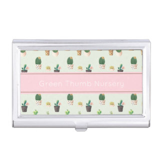 Cactus Print Business Card Holder