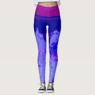 Cactus purple leggings