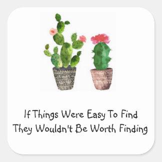 Cactus Quote Sticker