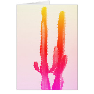 Cactus Rainbow Greeting Card, Blank Card