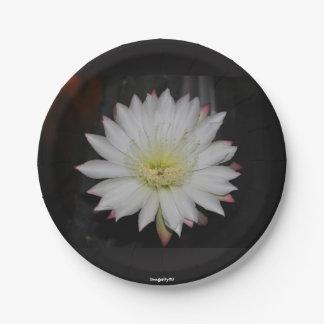 Cactus Rose Paper Plate