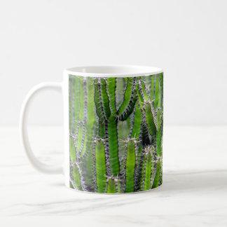 Cactus spike basic white mug