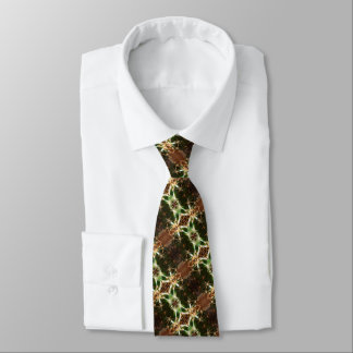 Cactus tie, brown and green tie