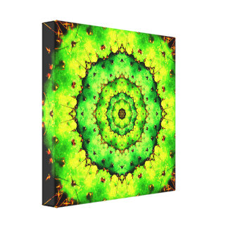 Cactus Tunnel Mandala Canvas Print
