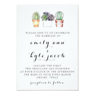 Cactus Wedding Invitation