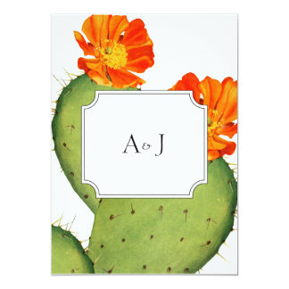 Cactus wedding invitation card