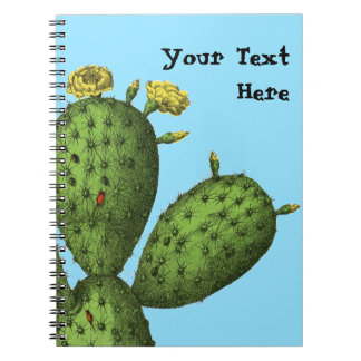 Cactus with Yellow Flowers Notebook