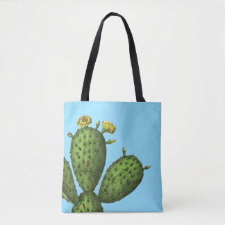 Cactus with Yellow Flowers Tote Bag