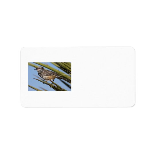 Cactus Wren Address Label