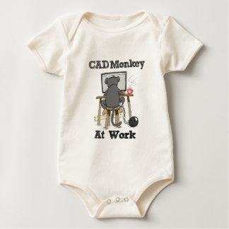 CAD Monkey AT Work Baby Bodysuit
