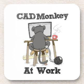 CAD Monkey At Work Coaster