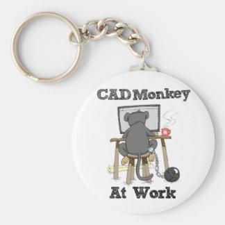 CAD Monkey At Work Key Ring