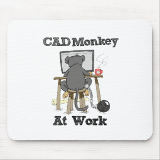 CAD Monkey At Work Mouse Pad
