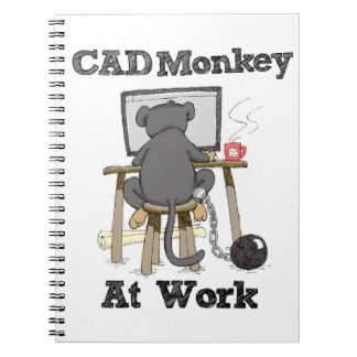 CAD Monkey At Work Notebooks