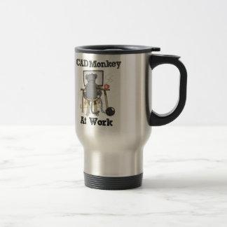 CAD Monkey At Work Travel Mug